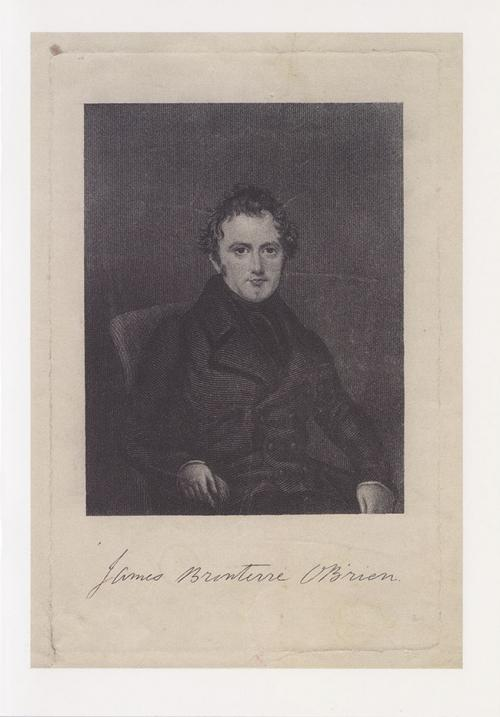 Greetings card of engraving of James 'Bronterre' O'Brien.