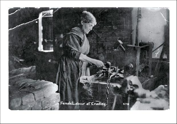The front of the greetings card of a lone chainmaker.