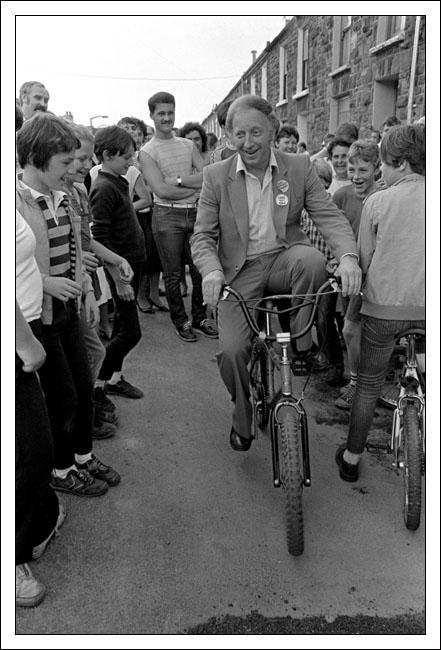 Postcard of Arthur Scargill, N.U.M. President, in Treorchy, The Rhondda, on 16th June 1984.