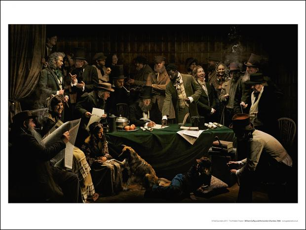 Poster of William Cuffay and the London Chartists.