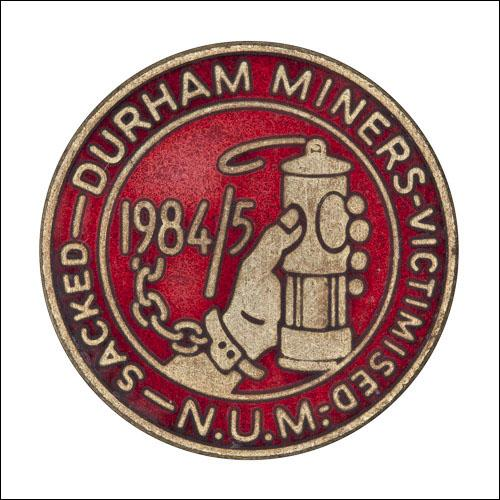 Greetings cards of the enamel badge for the victimised miners from Durham