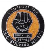 Greetings card of the enamel badge of the Dirty 30.