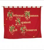 Greetings card of the banner of National Women Against Pit Closures.