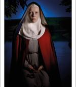 The poster of Hild of Streoneshal, also known as Hilda of Whitby, 614 - 680.