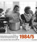 Poster of preparation of Christmas Lunch at Cadeby Miners Welfare on 22nd December 1984