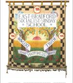 Poster of the front of the banner of the East Bradford Socialist Sunday School.
